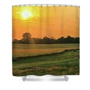 Holmes County Sunrise Shower Curtain