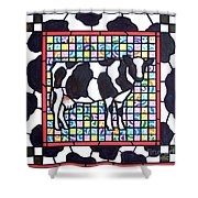 Holstein 3 Shower Curtain
