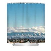 Holston Mountain Over Bristol Va/tn Shower Curtain