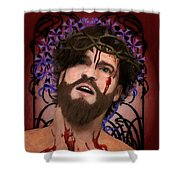 Holy Face Of Ecce Homo Shower Curtain