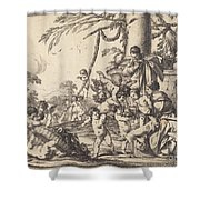Holy Family With Putti Shower Curtain