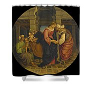 Holy Family With Saints John Elisabeth And Zacharias Shower Curtain