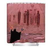 Holy Ghost Petroglyph Into The Mystic Shower Curtain
