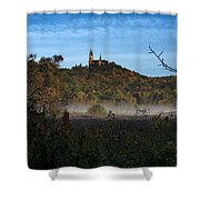 Holy Hill In Fall Shower Curtain