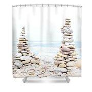 Holy Island Pebbles Shower Curtain