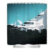 Holy Kailas Fragment Himalayas Tibet Yantra.lv Shower Curtain