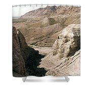 Holy Land: Qumran Caves Shower Curtain