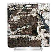 Holy Land: Qumran Ruins Shower Curtain