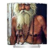 Holy Man Shower Curtain by Steve Harrington