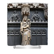 Holy Mary And Child Shower Curtain