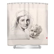 Holy Mary And Christ Child Shower Curtain
