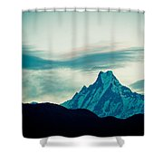 Holy Mount Fish Tail Machhapuchare 6998 M Shower Curtain