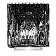 Holy Name Cathedral Chicago Bw 04 Shower Curtain