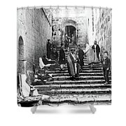 Holy Sepulchre Stairs Shower Curtain