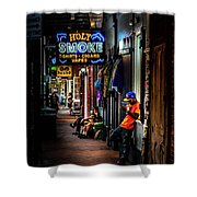 Holy Smoke Bourbon Street Shower Curtain
