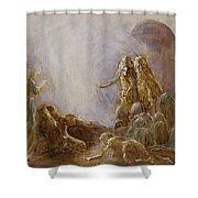 Holy Spirit Comes Shower Curtain