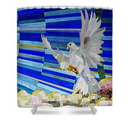 Holy Spirit Dove Shower Curtain