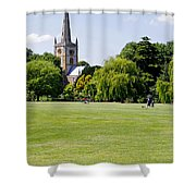 Holy Trinity Church At Stratford Upon Avon Shower Curtain
