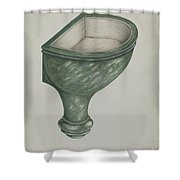 Holy Water Font, Santa Barbara Shower Curtain