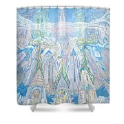 Homage To New York And The Chrysler Building Shower Curtain