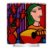 Homage To Picasso Shower Curtain by John  Nolan