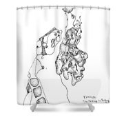 Homage To Tanguy Shower Curtain