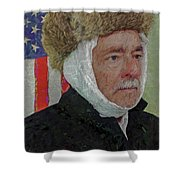 Homage To Van Gogh Selfie Shower Curtain