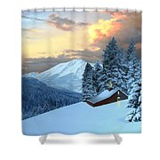 Home And Hearth Shower Curtain