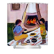 Home And Hearth In Taos Shower Curtain