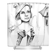 Home Angel Shower Curtain