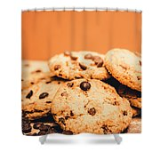 Home Baked Chocolate Biscuits Shower Curtain