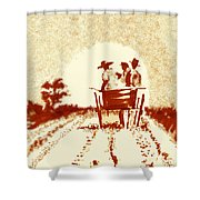 Home Before Dark Shower Curtain