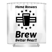 Home Brew Logo Range Shower Curtain