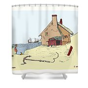 Home By The Sea Shower Curtain by Donna Munro