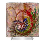 Home By The Sea Shower Curtain