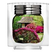 Home Flower Garden In A Glass Jar Art Shower Curtain