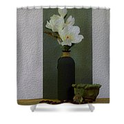 Home Flowers Decor Shower Curtain