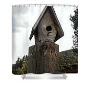 Home For The Birds Shower Curtain