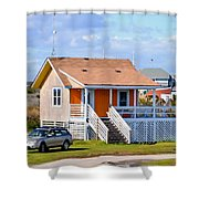Home In Nags Head 3 Shower Curtain