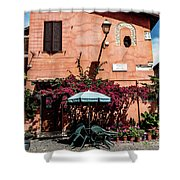 Home In The Piazza Shower Curtain