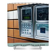 Home Intercom System Shower Curtain