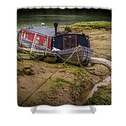 Home Is On The Mud Shower Curtain