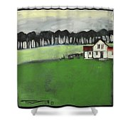 Home Is Where The Heart Is Poster Shower Curtain