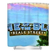 Home Of The Blues - Beale Street Shower Curtain