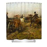 Home On Horseback Shower Curtain