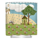 Home On Sunday  Shower Curtain