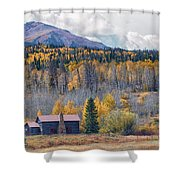 Home On The Gore Range Shower Curtain