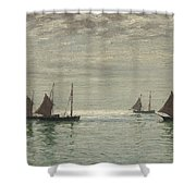 Home On The Morning Tide Shower Curtain