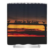 Home On The Range - Wyoming Ranch  Shower Curtain