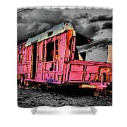 Home Pink Home Black And White Shower Curtain